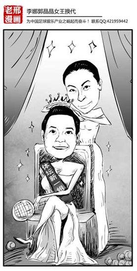 漫画体坛:李娜郭晶晶女王换代