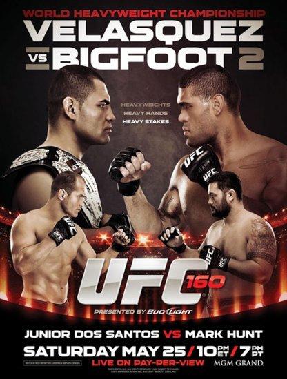 UFC160前瞻:凯恩再战大脚 重量级猛将大对决