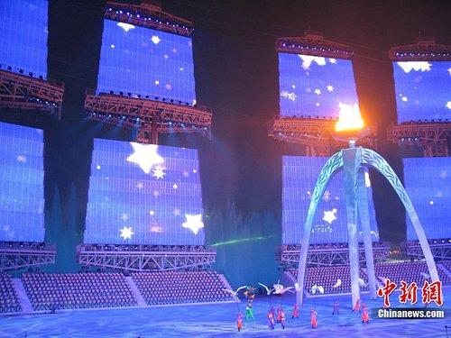 """亚运会闭幕式开启 """"灯光电火""""浑然天成"""