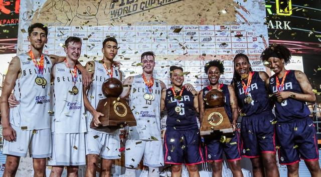 FIBA3X3U18世界杯-比利时美国分获男女篮冠军