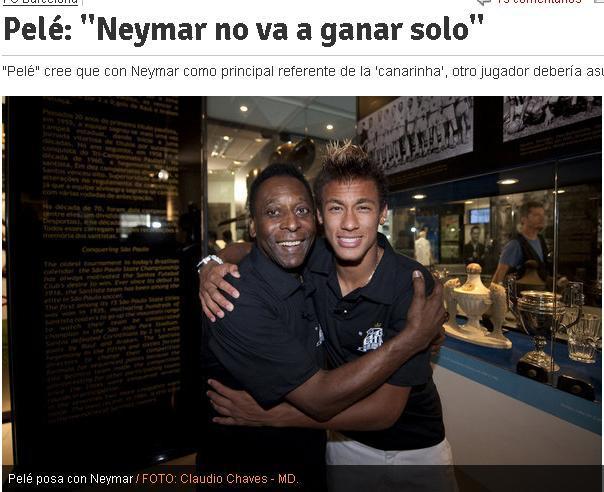 贝利:一个内马尔远远不够 巴西足坛后继无人