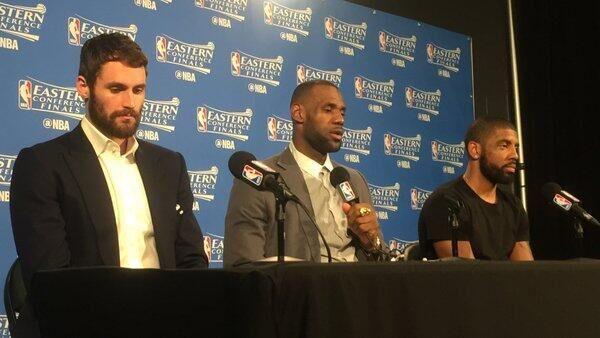 詹姆斯:进总决赛无优越感 还需一轮成就伟大