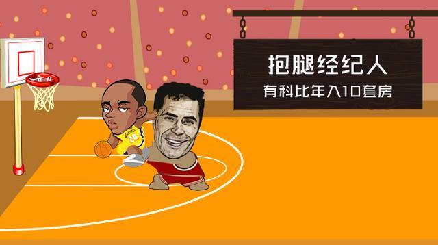 NBA指数:詹皇经纪人躺拿3.4亿 科比年送1人10套房