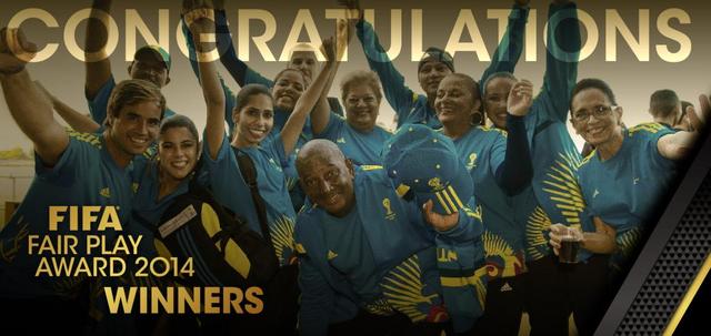FIFA公平竞赛奖:国际足联志愿者获奖