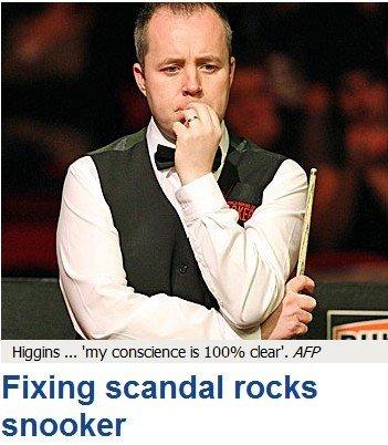 希金斯赌球引发全球媒体热议 职业生涯恐告终
