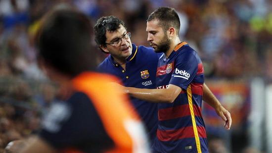 Alba right leg injured or sidelined 15 days