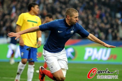 友谊赛-法国1-0小胜10人巴西 皇马射手破门