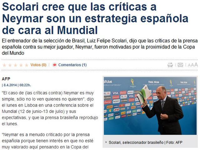 巴西大帅怒揭惊天阴谋:西班牙人想搞死内马尔