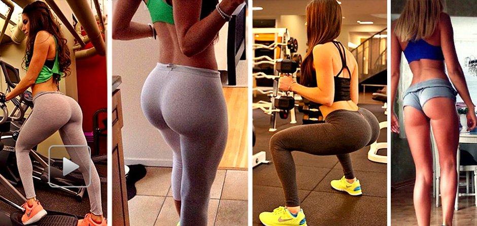 健身美女分享塑形技巧 性感翘臀让人欲罢不能图片
