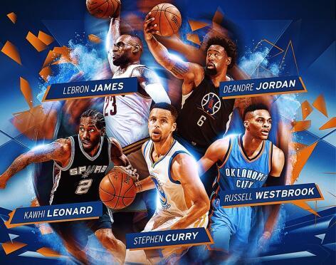 NBA年度最佳阵容出炉 库里全票哈登无缘三阵