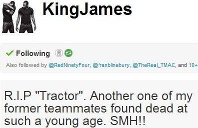 詹姆斯前队友心脏病发死亡 皇帝:希望他安息
