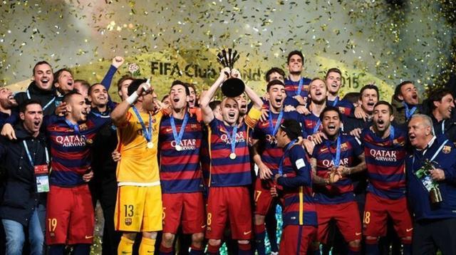 巴萨3-0夺世俱杯加冕五冠王 梅西破门苏神2球