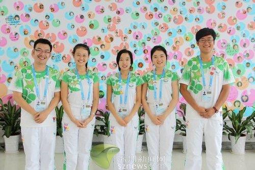 深圳大运会美丽志愿者 构筑起一道特殊风景线