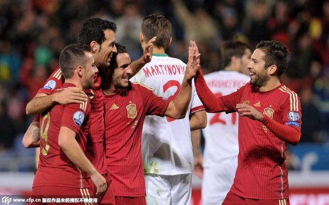 欧预赛-西班牙3-0大胜 伊斯科破门佩德罗建功