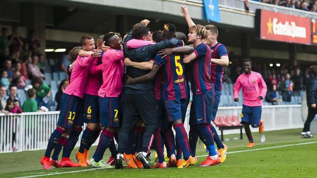 9 Barcelona B team won a key battle relegation Munir lore goals