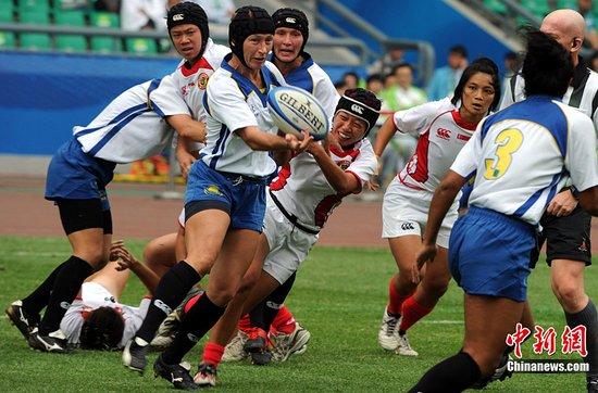 图文:女子榄球初赛哈萨克斯坦胜新加坡