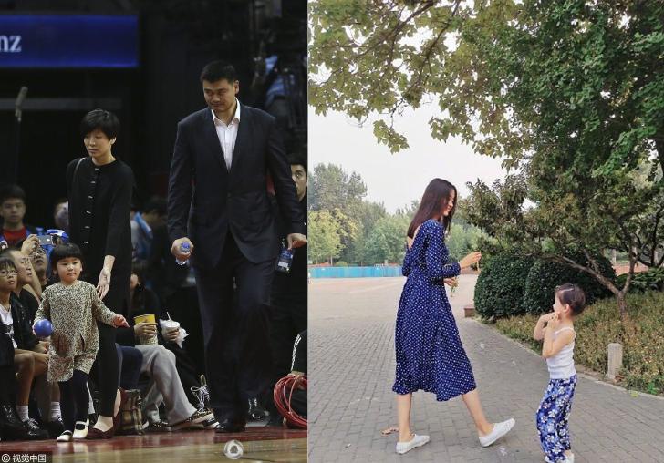 张梓琳女儿与姚明爱女PK身高