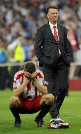 图文:欧冠决赛国米2-0拜仁 拜仁将士很失落