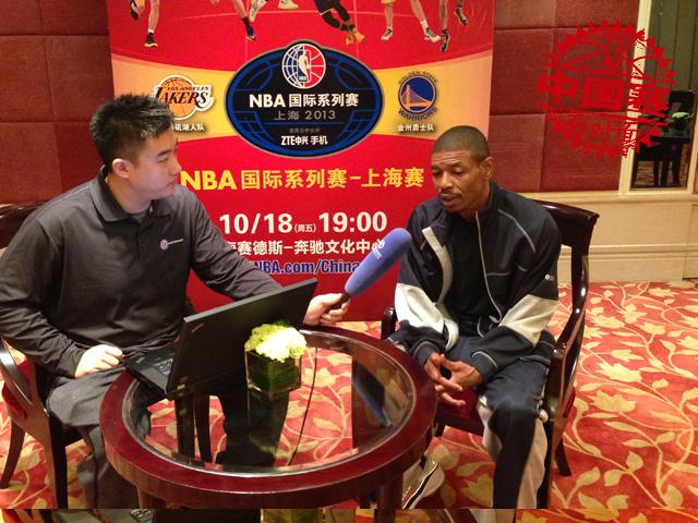 腾讯专访蒂尼-博格斯 NBA最矮球星笑称不敢盖姚明截图