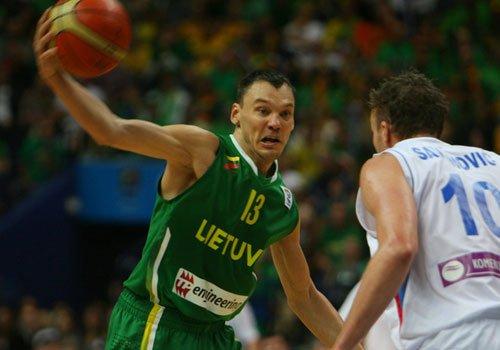 贾斯科维休斯14分7助攻 立陶宛力斩塞尔维亚