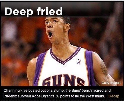 Yahoo:科比38分难救主 太阳替补爆湖人板凳