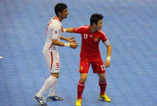 五人制-中国2-5伊朗四国赛垫底 邓韬梁爽建功