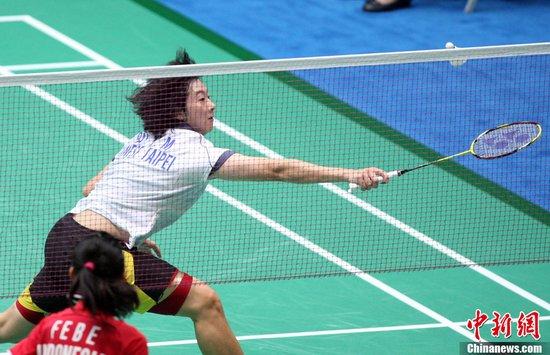 图文:羽球女单中国台北选手白晓马轻松晋级