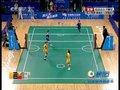 视频:女子藤球双人预赛 中国队踢出界失分
