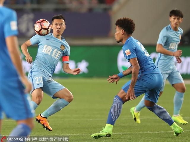 GIF-特谢拉连过2人推射 苏宁主场1-0领先富力