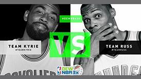 NBA全明星周末将举行3x3表演赛 欧文威少助阵