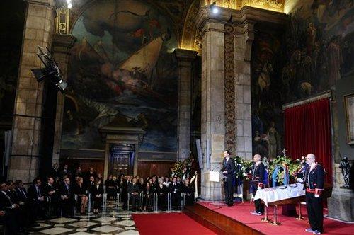 萨马兰奇追悼会举行 罗格宣读悼文西王子送别