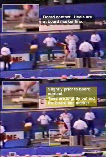 9帧截图证桑兰撤垫子指控无根据 或踩错位置