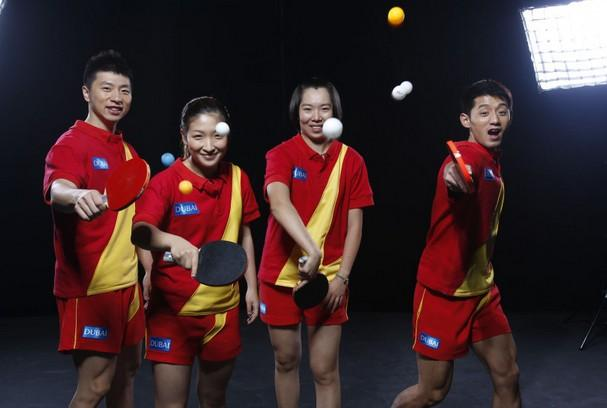 日本乒乓球公开赛激战 中国奥运阵容无人失手
