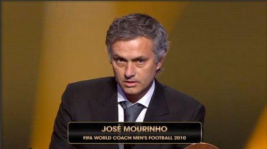 穆里尼奥获2010最佳教练 狂人力压博斯克获奖