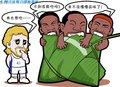 漫画:三巨头品味胜利果实 热火擒小牛2比1