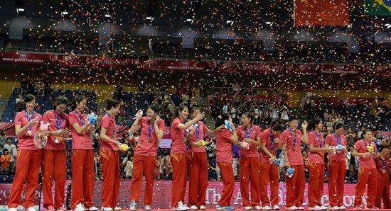 世界女排大奖赛中国队获得亚军