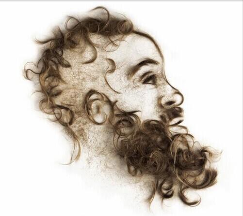 另类变态第一页_哈登头像成另类艺术品 真人头发拼出第一分卫