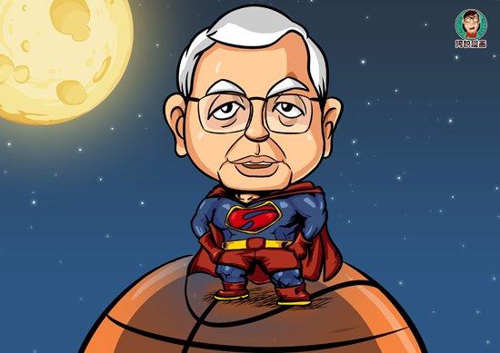 漫画:感谢斯特恩 化身超人造福篮球迷