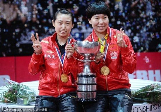 李晓霞携郭跃女双登顶 本届世乒赛成就双冠王