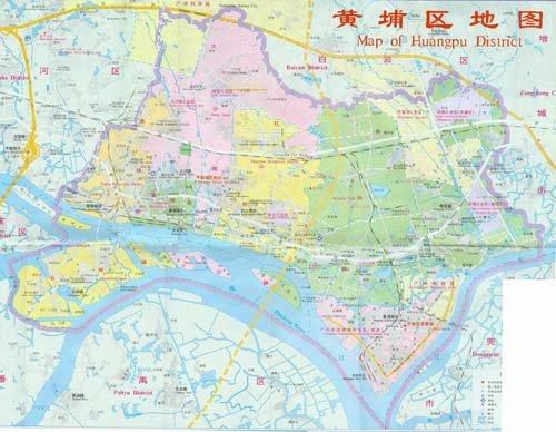 广州黄埔区地图; 广州黄浦区概况;; 的东南部,毗邻萝岗区,面积121.