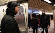 美国男子和地铁赛跑