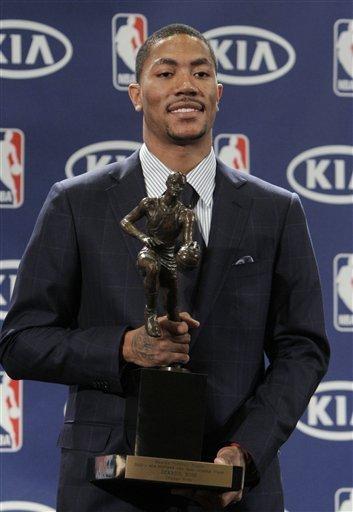 官网正式宣布罗斯为MVP 成史上最年轻获奖者