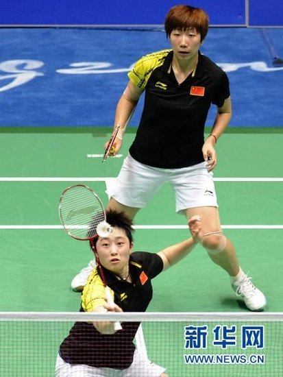 国羽两组合完胜韩国选手 提前锁定女双金牌