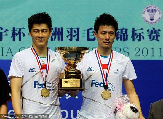 亚锦赛风云组合2-0日本组合 为队友复仇夺冠