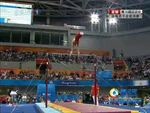 视频:滕海滨单杠完成出色 锁定男子全能金牌