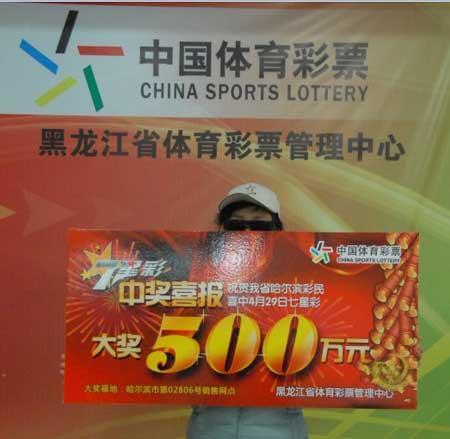 投注手机号中大奖 女篮球员遮面领500万(图)