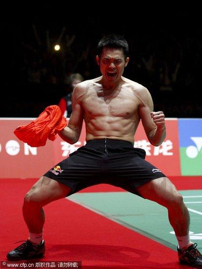 林丹2-1逆转李宗伟夺冠 世锦赛国羽男单5连冠