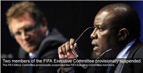 国际足联宣布哈曼停职 布拉特被定无罪将连任