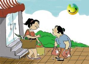 漫画体坛:少使用塑料袋