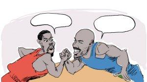 漫画体坛:NBA级的扳手腕
